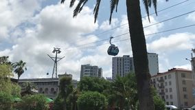 Cidade Geórgia de Batumi, tiro no telefone celular, conceito do curso, vídeo amador turístico video estoque