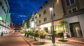 Cidade giessen Alemanha da noite foto de stock royalty free