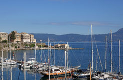Cidade Grécia de Corfu Fotografia de Stock Royalty Free