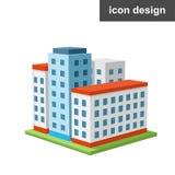 Cidade grande do ícone Imagem de Stock