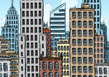 Cidade grande dos desenhos animados