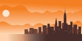 Cidade grande: ilustração do vetor Imagem de Stock
