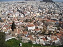 A cidade Grecian vista de cima de Foto de Stock