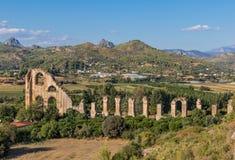 A cidade greco-romana de Aspendos, Turquia imagens de stock