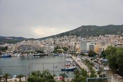 A cidade grega de Kavala fotografia de stock