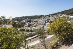 A cidade grega velha de Lindos Imagens de Stock