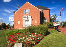 Cidade Hall Downtown Herndon, Virgínia imagem de stock