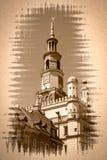 Cidade Hall Fine Art de Poznan imagens de stock