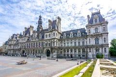 Cidade Hall Hotel de Ville em Paris, Fran?a imagens de stock