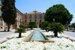 Cidade Hall Murcia Fountain Imagem de Stock