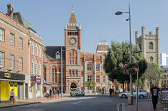 Cidade Hall Square, leitura, Berkshire Foto de Stock Royalty Free