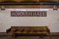 Cidade Hall Subway Station - Brooklyn, New York imagens de stock royalty free