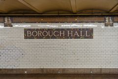 Cidade Hall Subway Station - New York City fotografia de stock royalty free