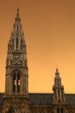 Cidade Hall Vienna de Rathausplatz Rathaus Fotos de Stock