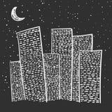 Cidade Hand-drawn Fotografia de Stock