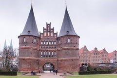 Cidade Hanseatic do ¼ beck de LÃ, entrada através de algumas de quatro portas da cidade, o Fotografia de Stock
