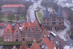 Cidade Hanseatic do ¼ beck de LÃ, entrada através de algumas de quatro portas da cidade, o Fotos de Stock Royalty Free