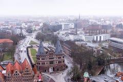 Cidade Hanseatic do ¼ beck de LÃ, entrada através de algumas de quatro portas da cidade, o Fotografia de Stock Royalty Free