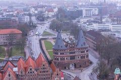 Cidade Hanseatic do ¼ beck de LÃ, entrada através de algumas de quatro portas da cidade, o Foto de Stock Royalty Free