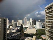 Cidade havaiana imagens de stock