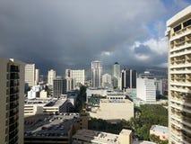 Cidade havaiana imagem de stock
