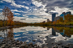 Cidade HDR de Calgary Fotografia de Stock