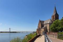 Cidade histórica de Emmerich no nrw Alemanha de Rhine River Fotografia de Stock