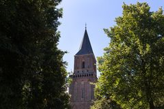Cidade histórica de Emmerich no nrw Alemanha de Rhine River Foto de Stock Royalty Free