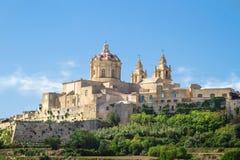 Cidade histórica de Mdina, Malta Foto de Stock Royalty Free