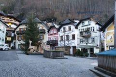 Cidade histórica pequena Hallstatt Fotografia de Stock Royalty Free