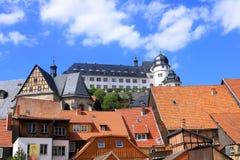 Cidade histórica velha Stolberg em Harz, Alemanha fotos de stock royalty free