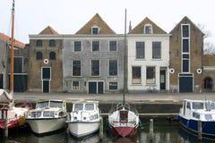 Cidade holandesa pequena nomeada Brielle Imagem de Stock Royalty Free