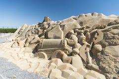 Cidade Hurghada da areia fotos de stock