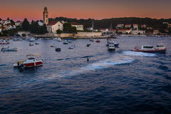 Cidade Hvar na Croácia Fotos de Stock Royalty Free