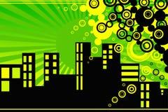 Cidade ideal Vektor Imagens de Stock