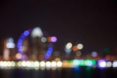 A cidade ilumina o fundo borrado bokeh Imagem de Stock