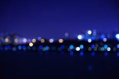 A cidade ilumina o fundo borrado bokeh Foto de Stock