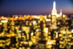 A cidade ilumina o sumário Fotos de Stock Royalty Free