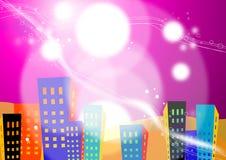 Cidade ilustrada Fotografia de Stock Royalty Free