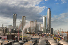 Cidade imaginária 1 Imagem de Stock Royalty Free