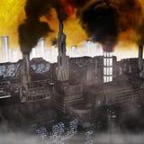 Cidade industrial futura Fotografia de Stock Royalty Free