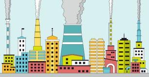 Cidade industrial poluída Fotografia de Stock Royalty Free