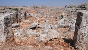 Cidade inoperante de Serjilla. Síria Imagens de Stock Royalty Free