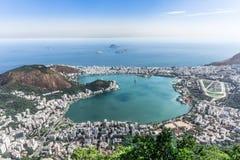 A cidade inteira de Rio de janeiro, Brasil Foto de Stock Royalty Free