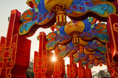 Cidade 2016 internacional do carnaval da lanterna mágica de Shanghai da luz Fotos de Stock