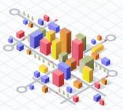 Cidade isométrica Fotografia de Stock Royalty Free
