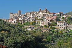 A cidade italiana Itri Imagem de Stock Royalty Free