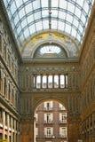 Cidade italiana Nápoles, Galleria Umberto fotos de stock royalty free
