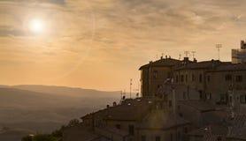 Cidade italiana típica Volterra fotografia de stock