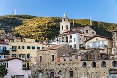 Cidade italiana tradicional fotografia de stock